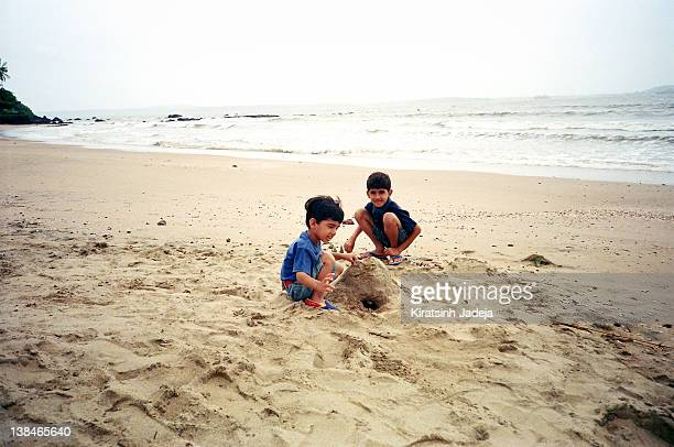 Playing With The Sand