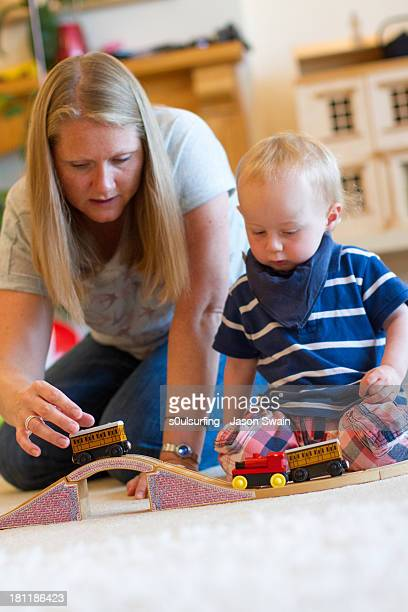 playing with trains - s0ulsurfing stock pictures, royalty-free photos & images
