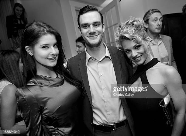 Playmate Amanda Cerny, Cooper Hefner and Playmate Nikki Leigh attend a celebration hosted by Playboy and Neville Wakefield of the iconic Playmate Of...