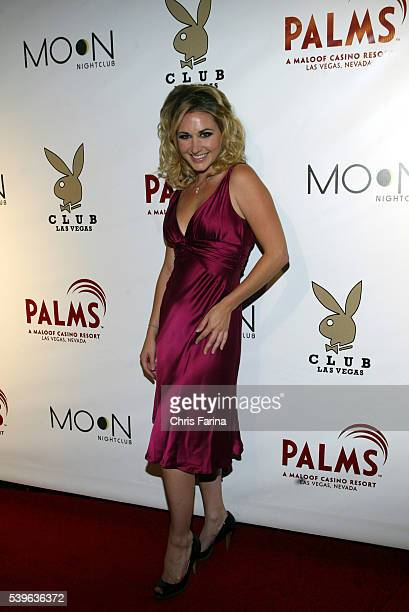 Playmate Andrea Lowell of Playboy TV arrives at the the Playboy Club grand opening at the Palms Casino Resort The legendary Playboy Club makes its...