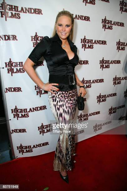 Playmate Audra Lynn attends William Romeo's Birthday Party at Cinespace on November 15 2008 in Hollywood California