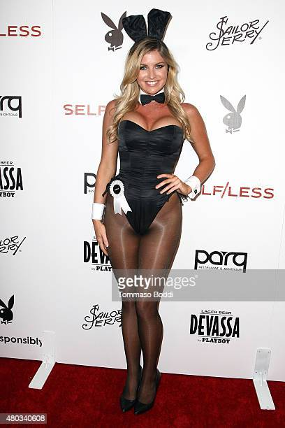 Playmate Carly Lauren attends the ComicCon International 2015 Playboy and Gramercy Pictures' Self/less Party on July 10 2015 in San Diego California