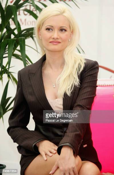 Playmate Holly Madison attends a photocall promoting the television serie 'Girls Next Door' on the second day of the 2007 Monte Carlo Television...