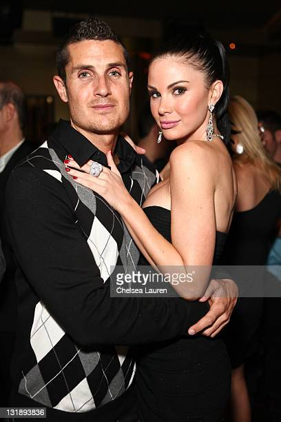 Playmate Jayde Nicole and boyfriend Tosh Berman attend the Mark Lash Jewelry Showcase event at GOLD Nightclub on November 5 2011 in Las Vegas Nevada