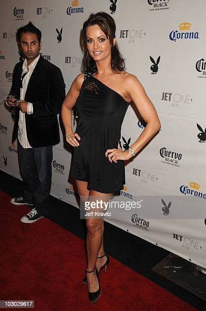 Playmate Karen McDougal attends the Playboy's Super Saturday Night Party during Super Bowl Weekend on February 2, 2008 in Phoenix, Arizona.