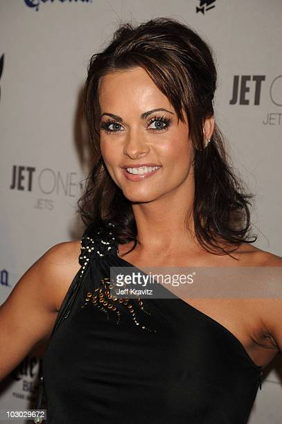 Playmate Karen McDougal attends the Playboy's Super Saturday Night Party during Super Bowl Weekend on February 2 2008 in Phoenix Arizona