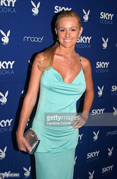 Playmate Katie Lohmann April 2001 during Skyy Vodka Celebrates Playboy's August Issue With Playmate of the Year Kara Monaco at Mood in Los Angeles...
