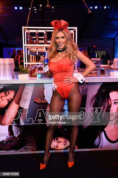 Playmate Kayla Rae Reid attends The Playboy Party during Super Bowl Weekend which celebrated the future of Playboy and its newly redesigned magazine...