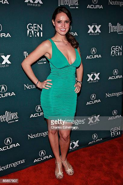 Playmate Lindsey Vuolo attends the Finding Bliss premiere after party during the 14th Annual Gen Art Film Festival Presented by Acura at BLVD on...