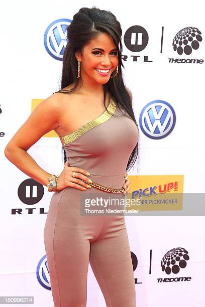 Playmate Mia Gray arrives at 'The Dome 63' music show at the Forum Ludwigsburg on August 29 2012 in Ludwigsburg Germany