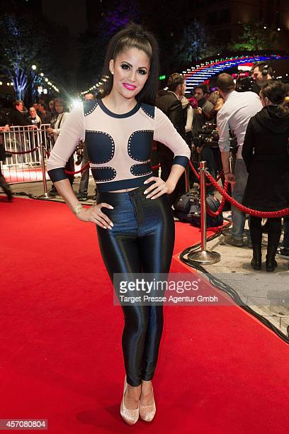 Playmate Mia Gray attends the Adagio ReOpening on October 11 2014 in Berlin Germany