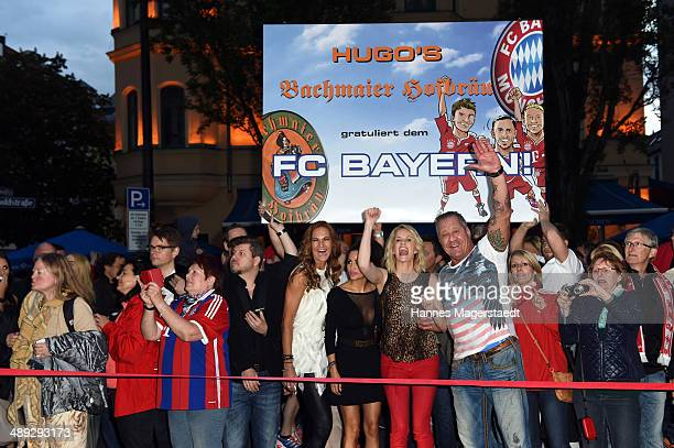 Playmate Mia Gray , model Monika Ivancan and Hugo Bachmaier attend 9 Years Anniversary Bachmaier Hofbraeu at Bachmaier Hofbraeu on May 10, 2014 in...