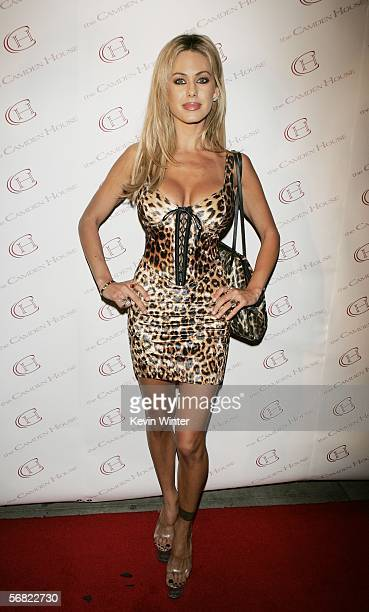 Playmate model/actress Shauna Sand arrives at the grand opening of Camden House on February 9 2006 in Beverly Hills California