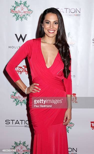 Playmate of the Year 2013 Raquel Pomplun attends The BenchWarmer 10th Annual Winter Wonderland Toys For Tots Christmas Celebration at Station...