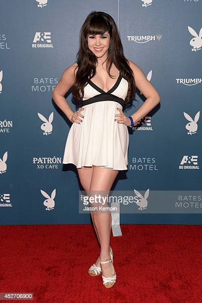 """Playmate of the year Claire Sinclair arrives at the Playboy and AE """"Bates Motel"""" Event During ComicCon Weekend on July 25 2014 in San Diego California"""