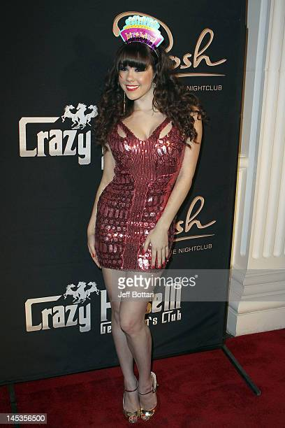 Playmate of the Year Claire Sinclair arrives to celebrate her 21st Birthday at Crazy Horse III Gentleman's Club on May 26 2012 in Las Vegas Nevada
