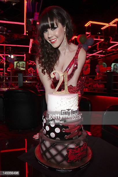 Playmate of the Year Claire Sinclair celebrates her 21st Birthday at Crazy Horse III Gentleman's Club on May 26 2012 in Las Vegas Nevada