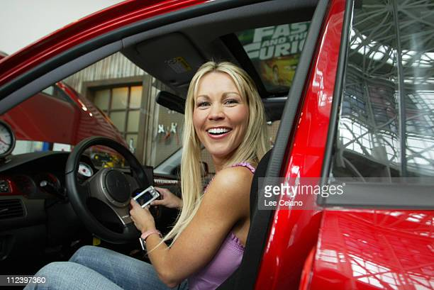 Playmate of the Year Dalene Kurtis during Dalene Kurtis Appears at Universal Home Video exhibit to promote The Fast and the Furious Tricked Out...