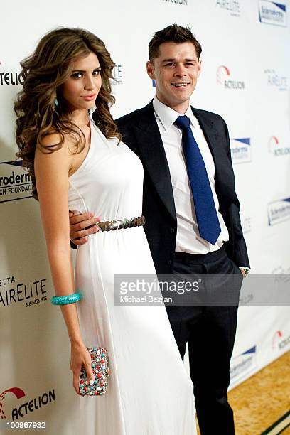 Playmate of the Year Hope Dworaczyk and actor Kenny Doughty attend The Cool ComedyHot Cuisine Fundraiser To Benefit The Scleroderma Research the...