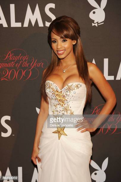 Playmate of the Year Ida Ljungqvist arrives at Playboy's 50th Annual Playmate of the Year Announcement and Celebration at Palms Hotel Casino on May 2...