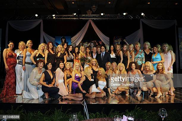 Playmate of the Year Ida Ljungqvist Hugh Hefner and George Maloof along with former Playboy playmates at Playboy's 50th Annual Playmate of the Year...