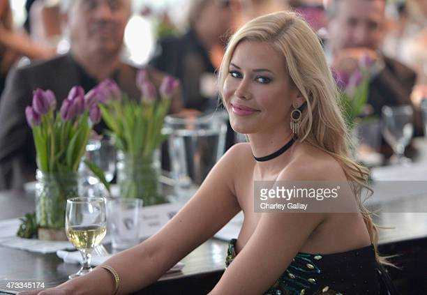 Playmate of the Year Kennedy Summers attends Playboy's 2015 Playmate of the Year Ceremony at the Playboy Mansion on May 14 2015 in Los Angeles...