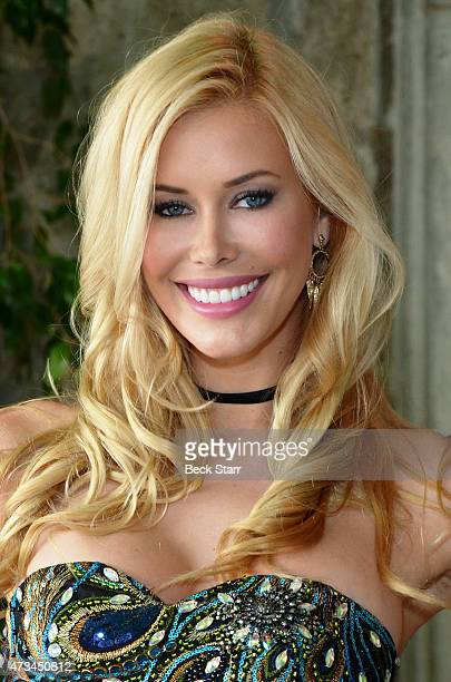 Playmate of the year Kennedy Summers attends Playboy's '2015 Playmate Of The Year' announcement luncheon at The Playboy Mansion on May 14 2015 in Los...