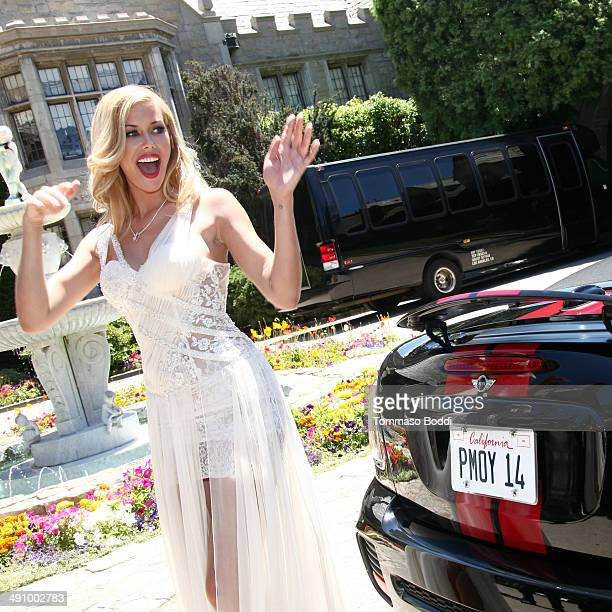 Playmate Of The Year Kennedy Summers attends the Playboy's 2014 'Playmate Of The Year' announcement luncheon held at The Playboy Mansion on May 15...