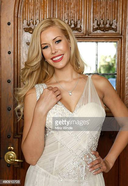 Playmate Of The Year Kennedy Summers poses for a portrait during Playboy's 2014 Playmate Of The Year Announcement and Reception at The Playboy...