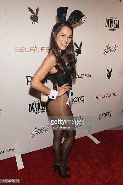 Playmate of the Year Raquel Pomplun attends Playboy and Gramercy Pictures' Self/less party during ComicCon weekend at Parq Restaurant Nightclub on...