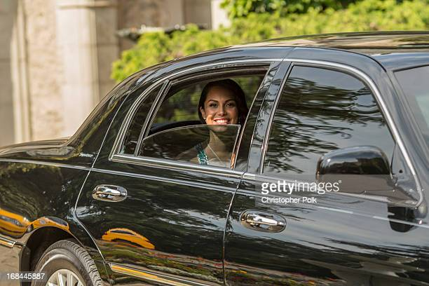 Playmate Of The Year Raquel Pomplun departs the Playmate Of The Year Luncheon at The Playboy Mansion on May 9 2013 in Holmby Hills California