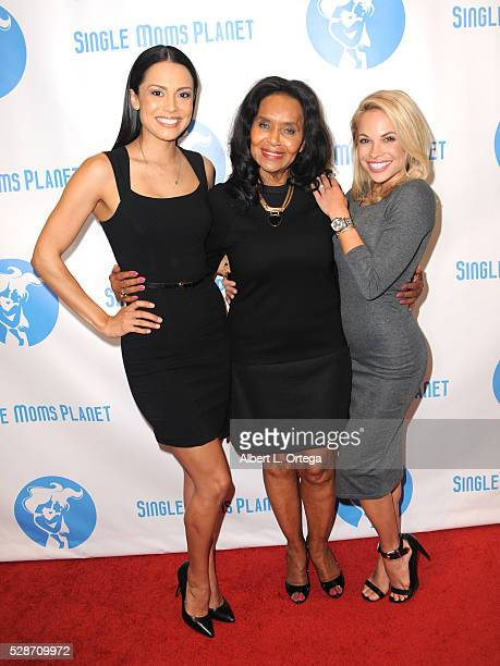 Playmate of the Year Raquel Pomplun Pat Lacey and 2015 Playmate of the Year Dani Mathers arrive for the Single Mom's Awards presented by Single Moms...