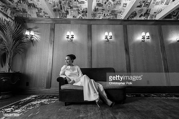 2013 Playmate Of The Year Raquel Pomplun poses for a portrait at a celebration hosted by Playboy and Neville Wakefield of the iconic Playmate Of The...