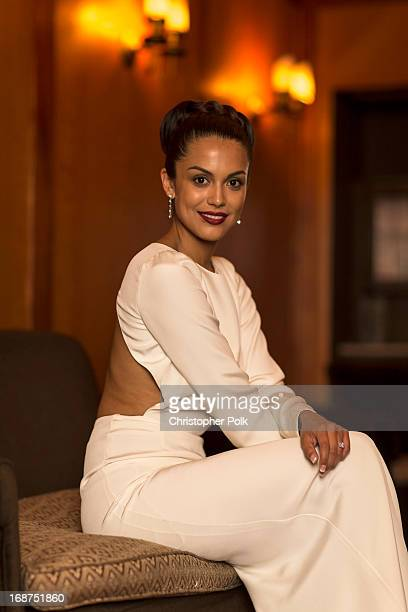 Playmate Of The Year Raquel Pomplun poses for a portrait at a celebration hosted by Playboy and Neville Wakefield of the iconic Playmate Of The Year...