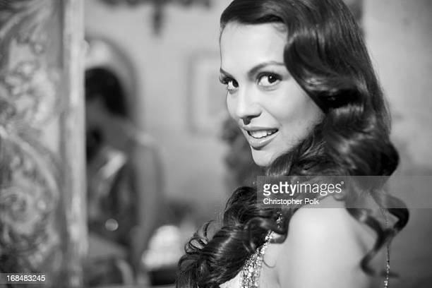 2013 Playmate Of The Year Raquel Pomplun poses for a portrait during Playboy's 2013 Playmate Of The Year Luncheon at The Playboy Mansion on May 9...