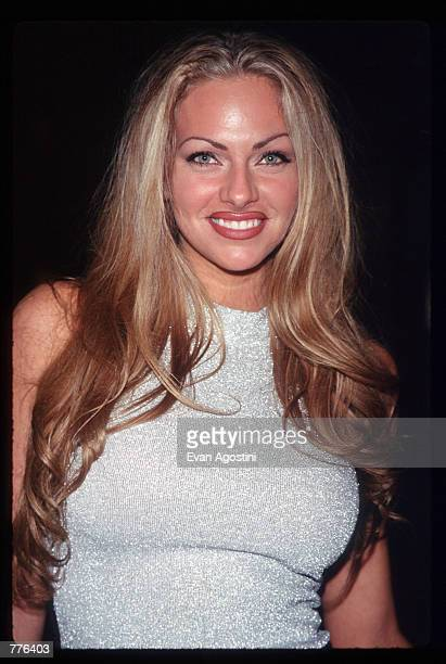 Playmate of the Year Stacy Sanches attends 'Operation Playmate A Salute to America's Veterans' at the Motown Cafe on Veterans Day November 11 1996 in...