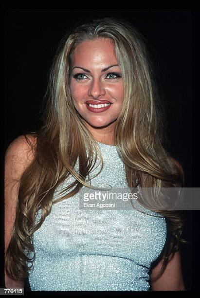 Playmate of the Year Stacy Sanches attends Operation Playmate A Salute to America's Veterans at the Motown Cafe on Veterans Day November 11 1996 in...