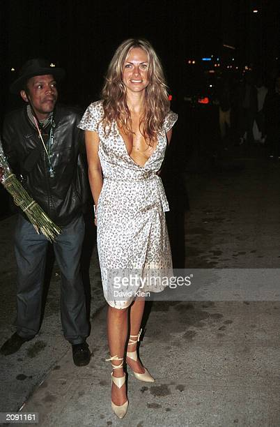 Playmate of the Year Stacy Sanches poses at Joseph's Club June 16 2003 in Hollywood California
