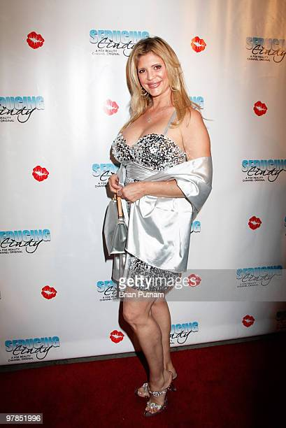 Playmate Peggy McIntaggart arrives for 'Seducing Cindy' Finale Party at Guy's North on March 18 2010 in Studio City California