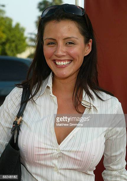 Playmate Penelope Jimenez arrives to the 31st annual Concern Foundation Stampede to Conquer Cancer at Paramount Studios on July 16 2005 in Hollywood...
