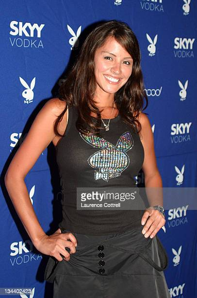 Playmate Pennelope Jimenez March 203 during Skyy Vodka Celebrates Playboy's August Issue With Playmate of the Year Kara Monaco at Mood in Los Angeles...