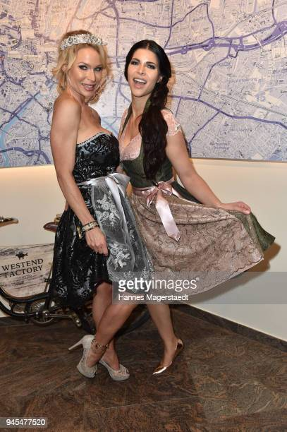 Playmate Ramona Bernhard and Micaela Schaefer attends Trachtentrends 2018 at Sheraton on April 12 2018 in Munich Germany