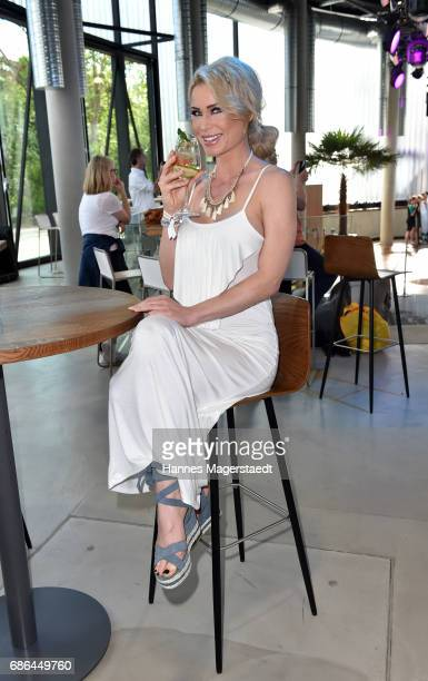 Playmate Ramona Bernhard attends the Pre Golf Party during the 9th Golf Charity Cup hosted by the Christoph Metzelder Foundation at the Jochen...