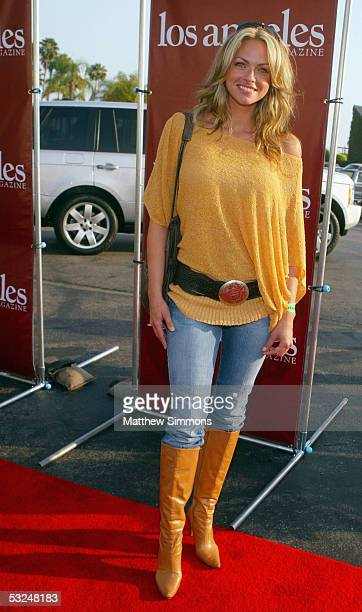 Playmate Stacy Sanches arrives to the 31st annual Concern Foundation Stampede to Conquer Cancer at Paramount Studios on July 16 2005 in Hollywood...