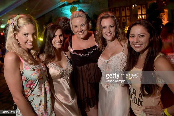 Playmates Michelle McLaughlin Alison Waite Shallan Meiers Juliette Frette and Pilar Lastra attend the annual Midsummer Night's Dream Party at the...