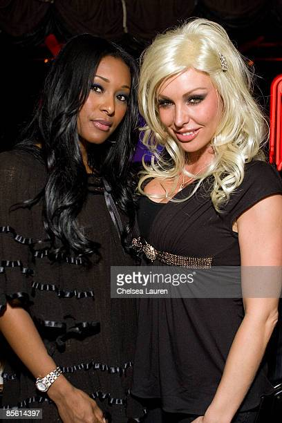 Playmates Nicole Narain and Christi Shake attend the private screening of 'Adopted' at the Comedy Store on March 25 2009 in Hollywood California