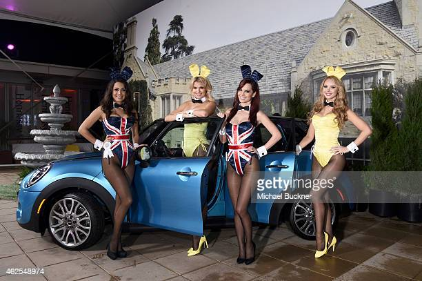 Playmates Raquel Pomplun Kristen Nicole Pamela Horton and Tiffany Toth attend the Playboy Party at the W Scottsdale During Super Bowl Weekend on...