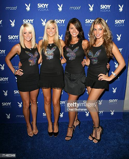 Playmates Sara Underwood Kara Monaco Penelope Jimenez and Monica Leigh attend the Playboy and Skyy Vodka Party photographed on July 18 2006 in Los...