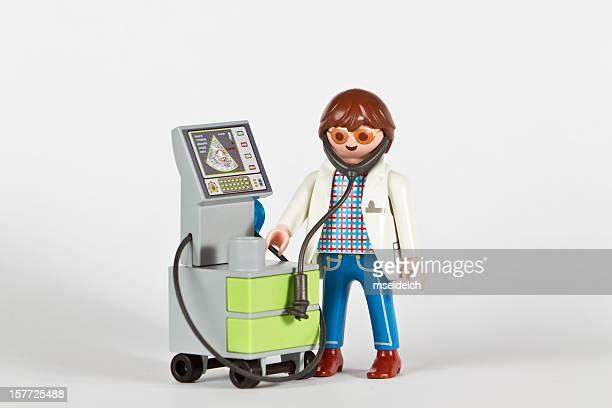 PHD Playmobil docteur examen appareil d'Échographie