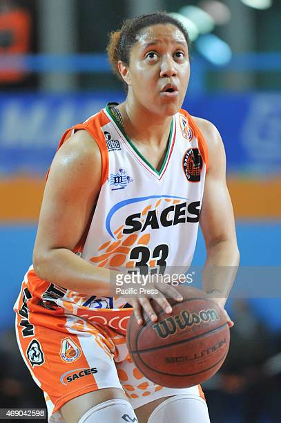 Play-off of regular season of female Serie A Saces Napoli vs. San Martino di Lupari,in action Ashleigh Fontenette Naples's guard.